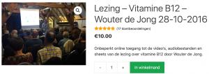 Lezing – Vitamine B12 – Wouter de Jong
